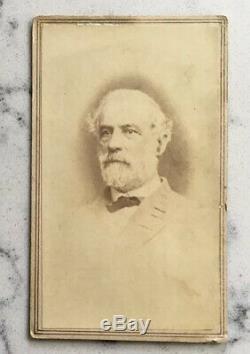 Antique CIVIL War CDV Photograph Confederate General Robert E. Lee Vannerson Csa