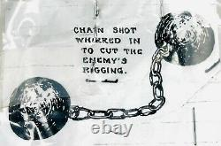 Antique Civil War Canon Ball Chain Shot 2