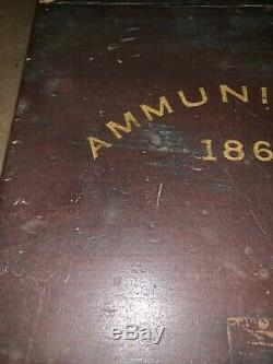Antique Civil War Era Ammunition Box 1861 Wood Rare Marked Wm. Benj Phelps