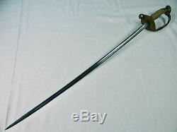 Antique Civil War Navy Naval USN Model 1850 Officer's 1889 Presentation Sword