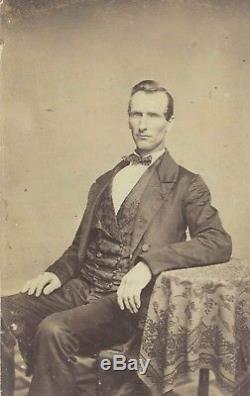 Antique Civil War Soldier's Bandanna c. 1860s Handkerchief Stamped Union Private