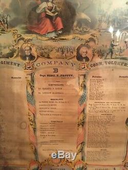 Antique Civil War Union Connecticut Army Roster/Roll Call
