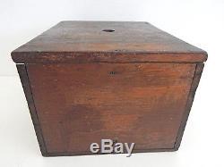 Antique Confederate Army Civil War Atalnta Grays Ballot Box RARE
