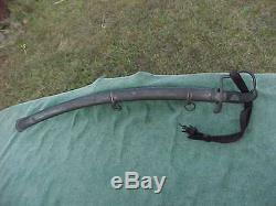 Antique European 1796 Pattern Pre Civil War Sword / Saber 7 HP2 E N 153 & Scabba