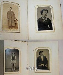 Antique Family Photo Album US CIVIL WAR ERA Union Winfield Scott Hancock / Mayo