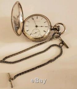Antique M1857 WALTHAM Appleton Tracy 1865 US Civil War Era Key Wind Pocket Watch