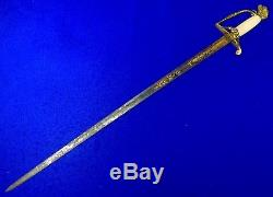 Antique Old 19 Century US Civil War Eagle Hilt Engraved Sword