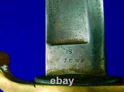 Antique Old US Civil War Ames Artillery Sword with Scabbard