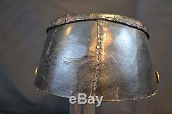 Antique Original CIVIL War Era Black Leather Kepi Shako Cap Confederate Or Union