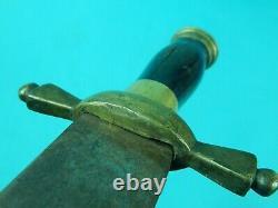 Antique US 19 Century Civil War Large Fighting Knife Short Sword with Sheath