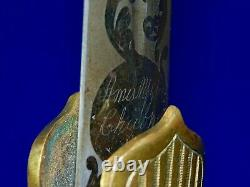 Antique US Civil War Ames Militia Officer's Engraved Sword with Scabbard