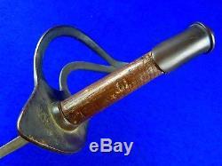 Antique US Civil War German Made Cavalry Sword Unusual Metal Hilt with Scabbard