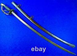 Antique US Civil War Model 1860 Emerson & Silver Cavalry Sword with Scabbard