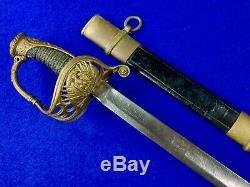 Antique US Civil War Presentation Grade German Import Engraved Sword with Scabbard