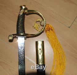 Antique US Civil War US Marines Made Presentation Officer's Sword ORIGINAL
