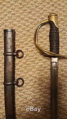 Antique U. S. Civil War M1860 Cavalry Saber Sword German Import