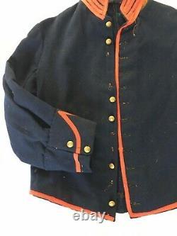 Antique Vintage Civil War Union Artillery Blue Red Wool Shell Uniform Jacket