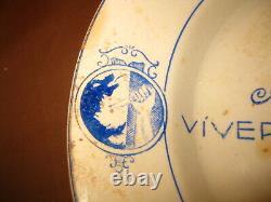 Antique Ww2 Spain Spanish CIVIL War Falange Plate Very Rare 1939