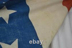 Antique bunting stars American flag red white blue Civil War Era 24x160 in