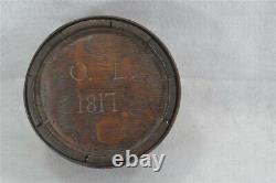 Antique canteen wood wood barrel date 1817 pre Civil War black powder original