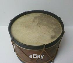 Authentic 19th Century American Civil War Era Child's Wooden 11 Snare Drum