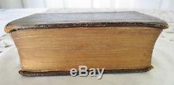 Authentic CIVIL WAR Era Pocket Bible Signed Lt. Col. Watkins Springfield VA 1861