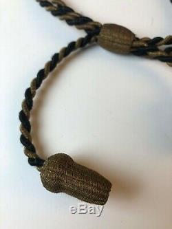 Authentic Civil War GAR Black & Gold Officers Hat Cord