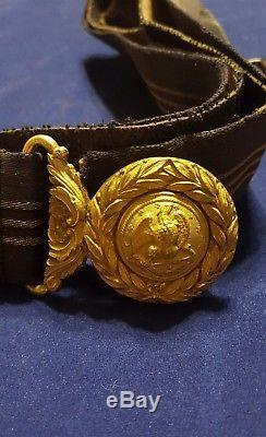 Authentic Civil War W. C. C. Dress Belt & Joseph Starkey Eagle Buckle 23 Conduit