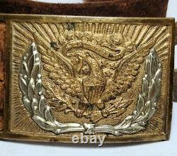 Authentic U. S. Army Civil War Model 1859 Foot Artillery Belt And Buckle