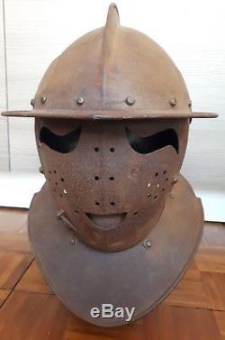 Brilliant 17th C English Civil War Era Savoyard Helmet Armour Victorian Produced