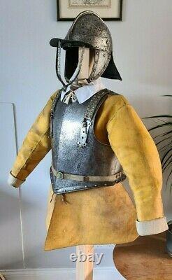 Brilliant 17th Century English Civil War Cavalry Officer Harqbusiers Half Armour