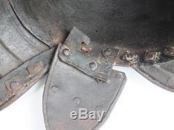 Brilliant Antique 17th Century Zischagge English Civil War Lobster Pot Helmet