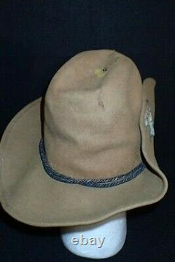 Butternut Slouch Hat Civil War Era Estate Texas A&M Corps of Cadets Stack Cord