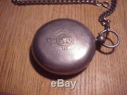 CIVIL WAR KEY WIND POCKET WATCH MADE for MILITARY USE
