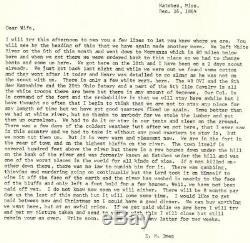 CIVIL WAR LETTER NATCHEZ LA. DEC. 16, 1864 83RD OVI HAMILTON OHIO Black Troops