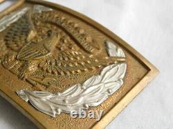 CIVIL WAR M1851 Pattern BELT BUCKLE Plate NCO EAGLE Wreath