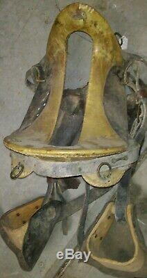 CIVIL WAR McClellan Saddle Enlisted Cavalry Super Rare recent find in VA Attic