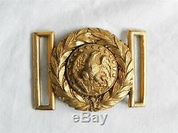 CIVIL WAR US NAVY Belt Buckle MODEL 1852 Officer's Two Piece