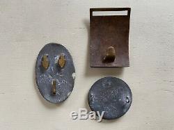 CIVIL WAR belt buckles-LOT OF 3-Brass-US-Rectangle Eagle-Round Eagle