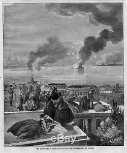 CIVIL War 1861 History Charleston South Carolina During Fort Sumter Bombing