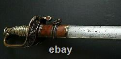 CIVIL War Ames M 1850 Silver Grip Presentation Grade Foot Officer Sword