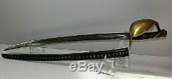 CIVIL War Ames Naval Cutlass Sword M 1860 Dated 1862 W Rare Original Scabbard