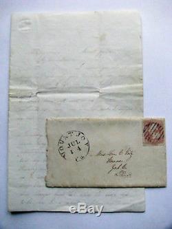 CIVIL War Antietam Battlefield Letter Dead And Dying Soldiers
