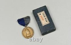 CIVIL War Army Campaign Medal In Original Box Numbered Original, Near Mint