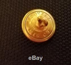 CIVIL War Button 2pc Confederate Florida Uniform Albert's Fl-1 Cuff 14mm Rare