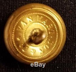 CIVIL War Button 2pc Confederate Rifleman Uniform Albert's Cs-205 Coat 22mm