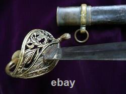 CIVIL War Confederate Boyle & Gamble Richmond Va Officer Sword Cs Marked W Star