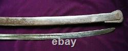 CIVIL War Confederate College Hill Arsenal Cavalry Sword W Large Csa On Guard