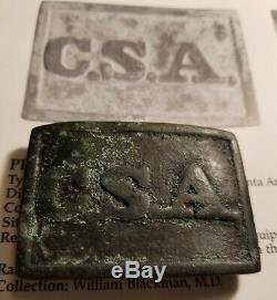 CIVIL War Confederate Csa Buckle Atlanta Arsenal