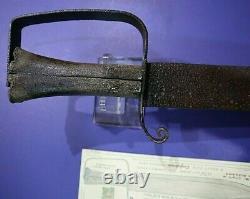 CIVIL War Confederate Large 18 1/2 D Guard Bowie Knife North Alabama Not Sword